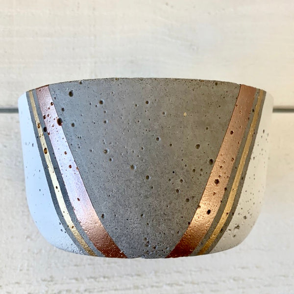 grey+ rose gold small flower pot