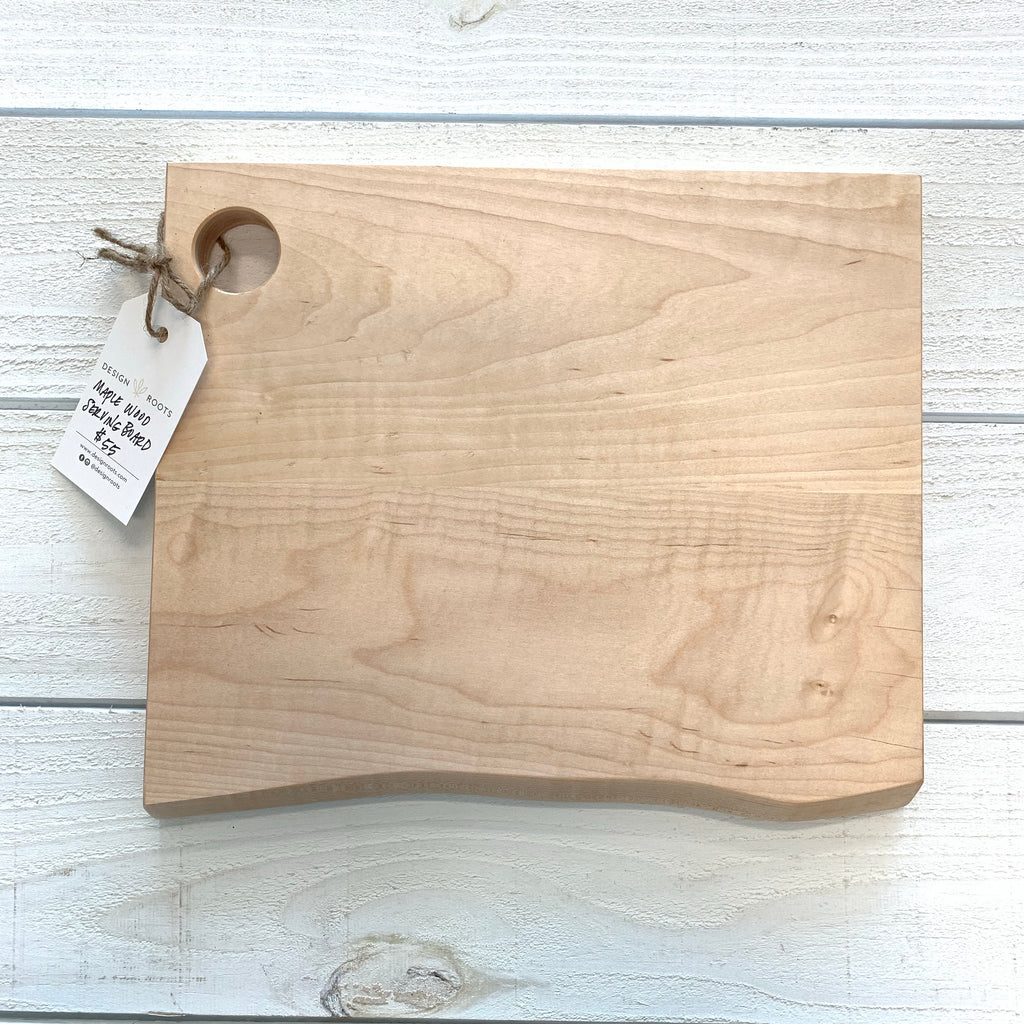 maple wood serving board - rectangle, large