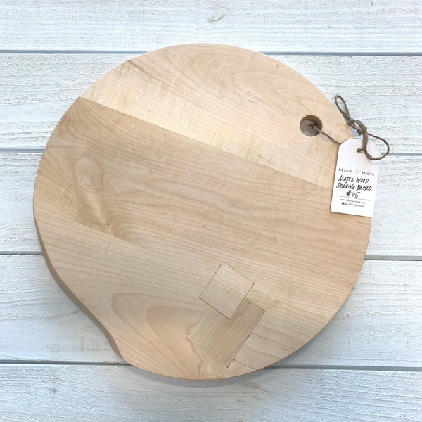maple wood serving board - round