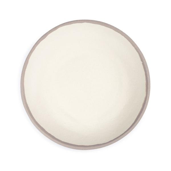 potter stone gray melaboo dinner plate