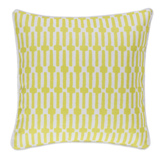 links pattern indoor/outdoor pillow - chartreuse