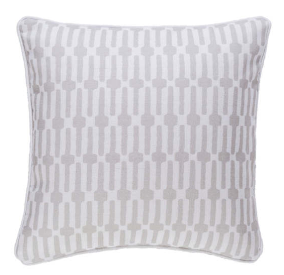 links pattern indoor/outdoor pillow - pearl grey