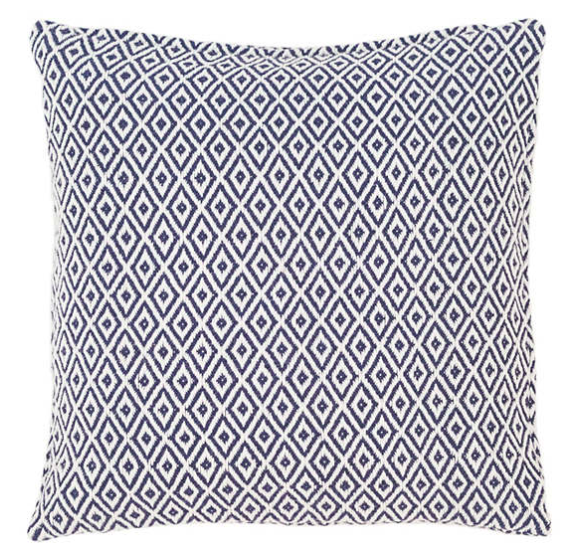 crystal pattern indoor/outdoor pillow - navy