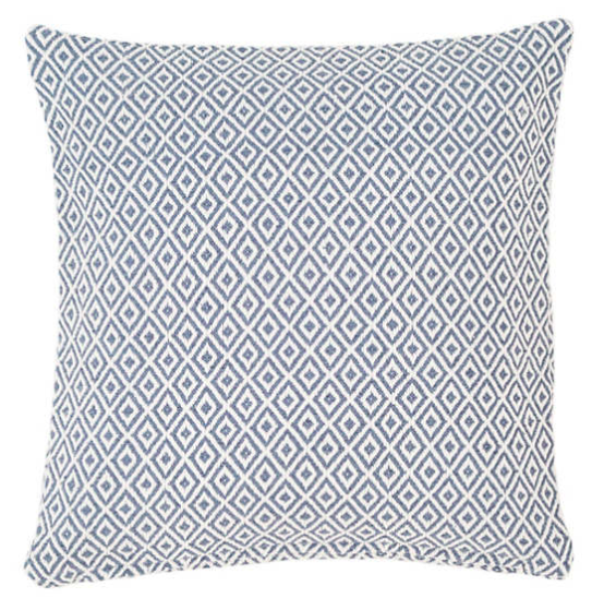 crystal pattern indoor/outdoor pillow - blue denim