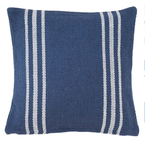 lexington indoor/outdoor pillow - navy + white