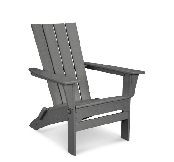 modern adirondack chair in grey