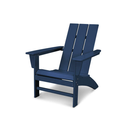 modern adirondack chair in navy