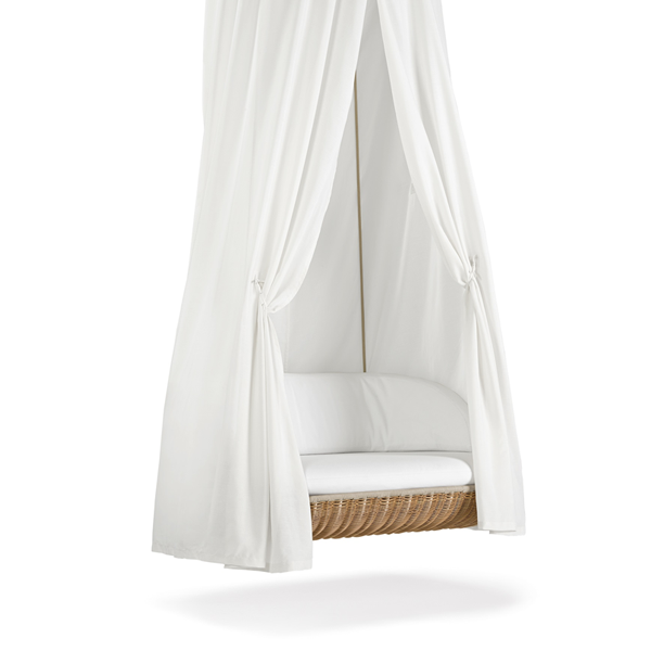 hanging 2-seater lounger with canopy