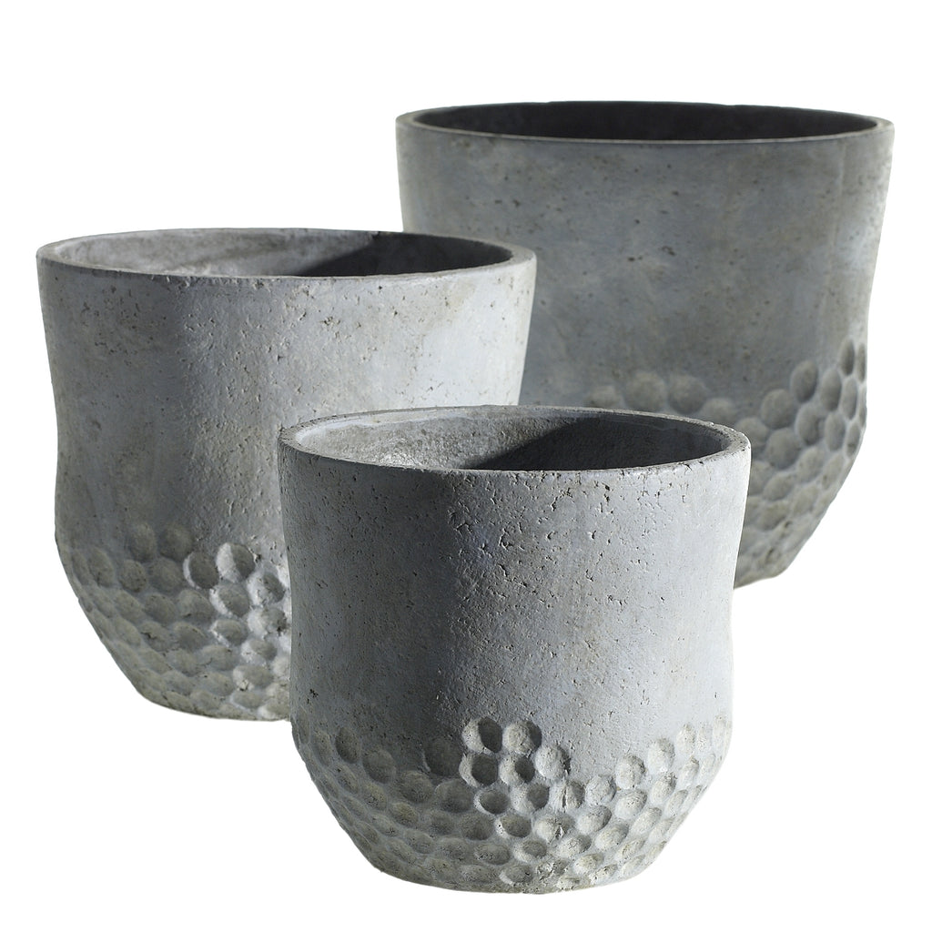 large grey ceramic planter