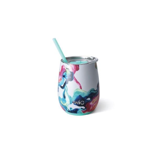 Swig Stemless Wine Cup - 12oz - Color Swirl