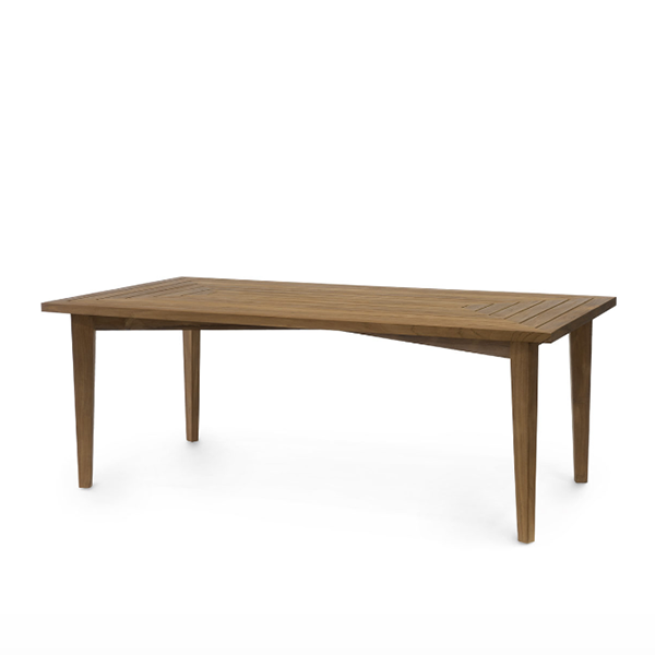 brown teak dining table