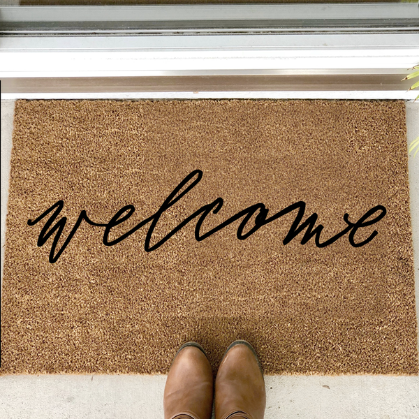 """welcome"" door mat"