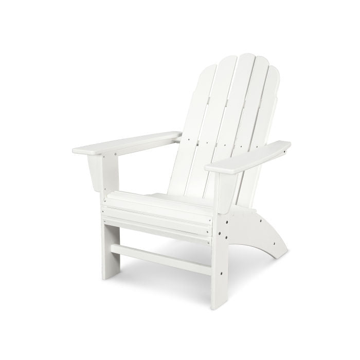 curveback adirondack chair in white