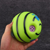 15cm Dogs Wobble Wag Giggle Ball - thediggitydogstore.com