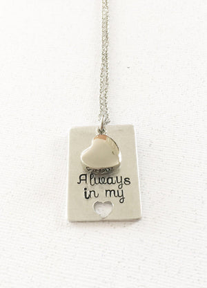Urn necklace - Hand stamped necklace - Loss - thediggitydogstore.com
