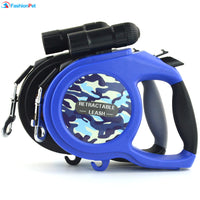 Arrival 8M 50kg Large Dog Leash Retractable Extending Pet Leash Lead for Big and Medium Dog with LED - thediggitydogstore.com