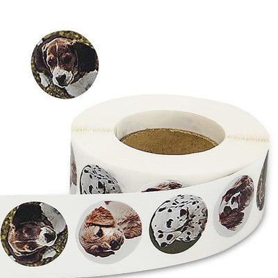 4 kinds dog Reward Stickers 500 per roll - thediggitydogstore.com