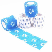 4 Rolls Dog Bandage, Wound Tape, Self Adherent - thediggitydogstore.com