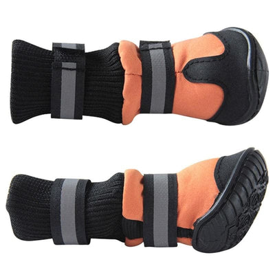 4Pcs/Set Winter Waterproof Dog Boots. Non-Slip Leather! - thediggitydogstore.com