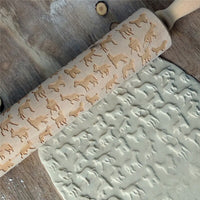 Christmas Wooden Embossing Rolling  Engraved - thediggitydogstore.com