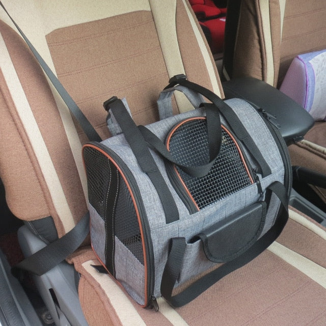 Dog Carrier Multi-functional Folding Pet Puppy Dog Cat Car Seat Basket Mat Cage Safe Carry Seat Cat Bag Pet Shoulder Bag Carrier - thediggitydogstore.com