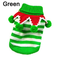 Free Shipping Cute Pet Christmas Sweater Stripe - thediggitydogstore.com