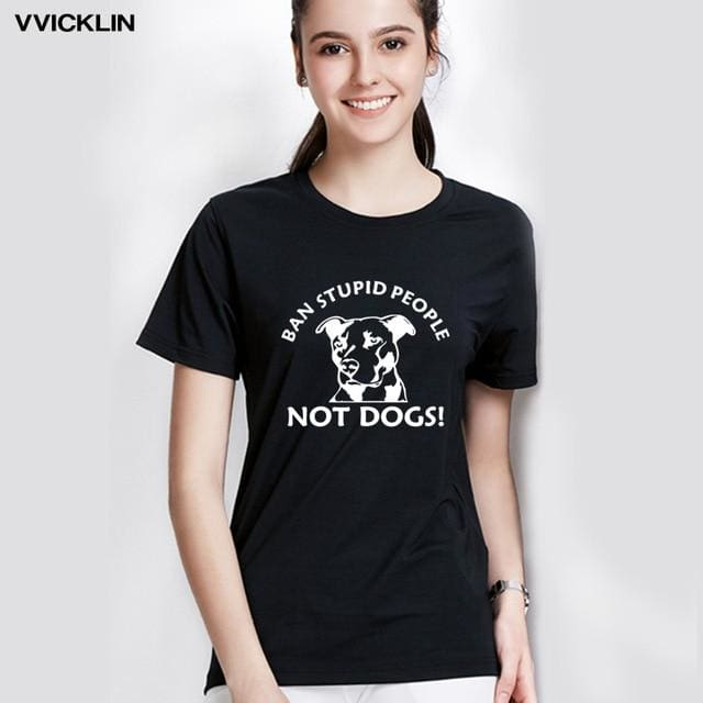 Ban Stupid People Not Dogs Pitbull Picture - thediggitydogstore.com