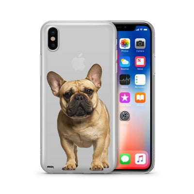 Black Masked Frenchie - Clear Case Cover - thediggitydogstore.com