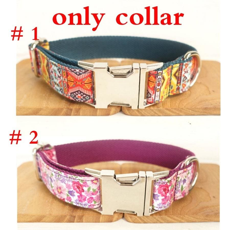 Bohemia Pattern Dog Collar and Leash Set - thediggitydogstore.com