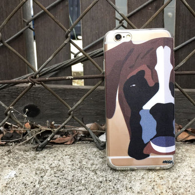 Boxer - Clear TPU Phone Case Cover - thediggitydogstore.com