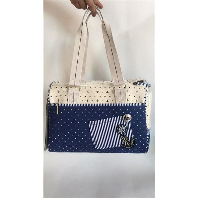 Brand New  Dog Canvas Carrier. Fun Sailor Pattern! - thediggitydogstore.com