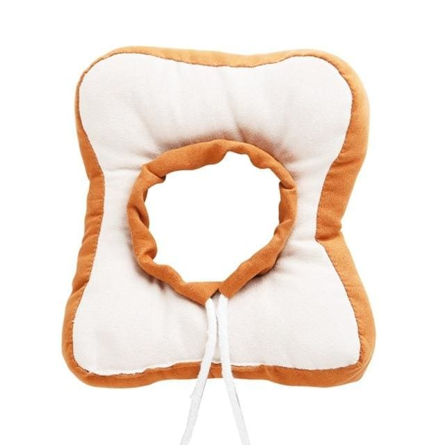 Bread Shaped Soft Cotton Elizabethan Protective Collar For Small Dogs! - thediggitydogstore.com