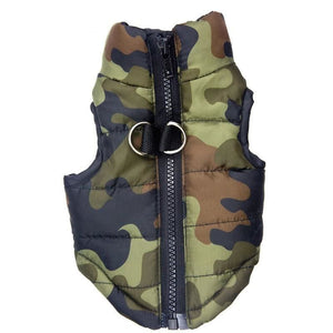 Camouflage Small Pet Vest Coat - thediggitydogstore.com