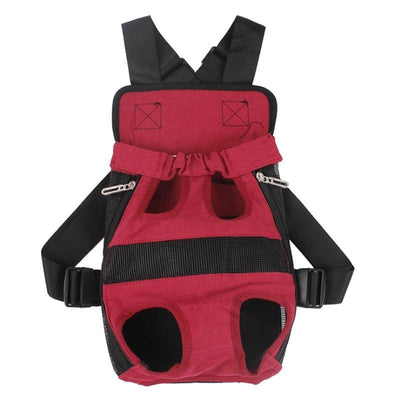 Canvas Dog Carrier Pack. Wear Front Or Back.  Adjustable & Comfortable - thediggitydogstore.com