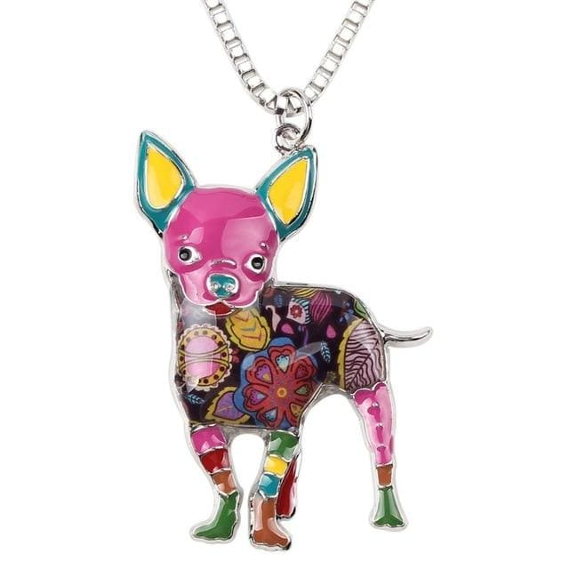 Chihuahua Necklace Show Your Dog Love - thediggitydogstore.com