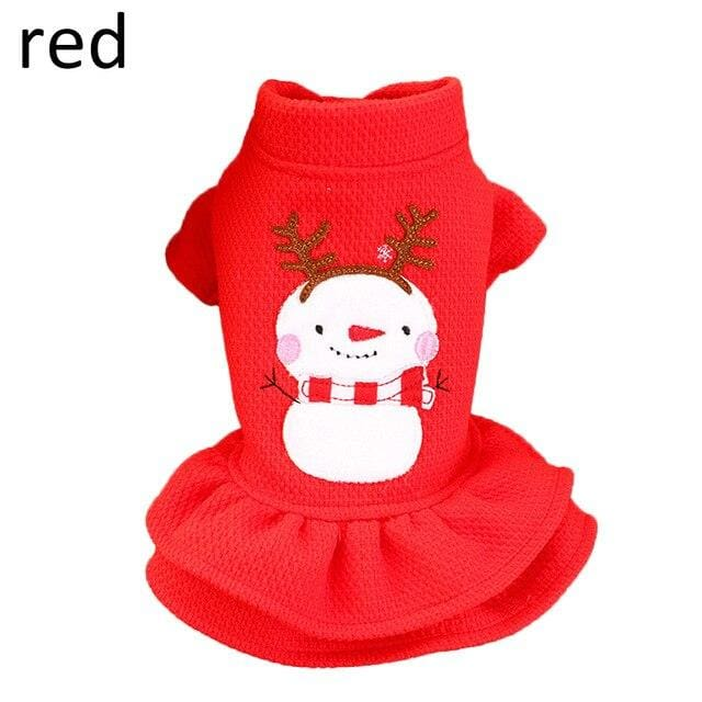 Christmas Dog Clothes For Cats Dogs Pet Cloth Warm Jumpsuit Winter Warm Dog Coat Dress Clothing Pet Products For  Puppy Cihuahua - thediggitydogstore.com