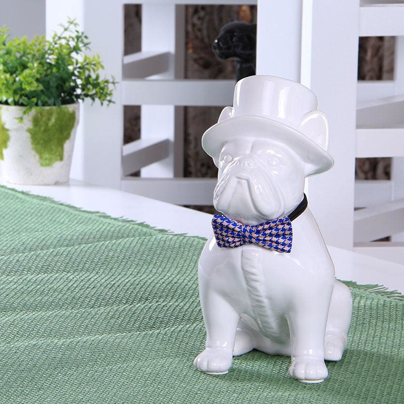 Creative Ceramic Gentleman French Bulldog Statue. So Nice! - thediggitydogstore.com