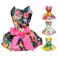 Cute Flowers & Ribbon Dog Dress Very Pretty! - thediggitydogstore.com