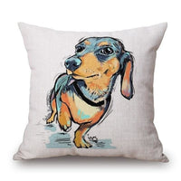 Dachshund Decorative Sofa Throw Pillow Cases Adorable! - thediggitydogstore.com