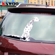 Dalmatian Moving Tail Rear Windshield Window Wiper Decal - thediggitydogstore.com
