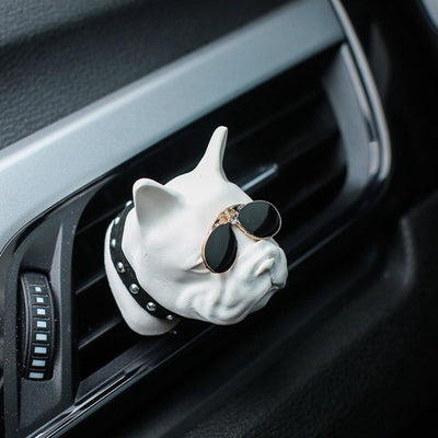 Dashboard Decoration Bull Dog Air freshener - thediggitydogstore.com