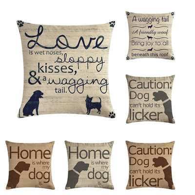 Decorative, Dog Themed Throw Pillow Cases.  Stylish, Cozy And Fun - thediggitydogstore.com