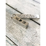 Dog loss - Hand stamped necklace - Dog memorial - thediggitydogstore.com