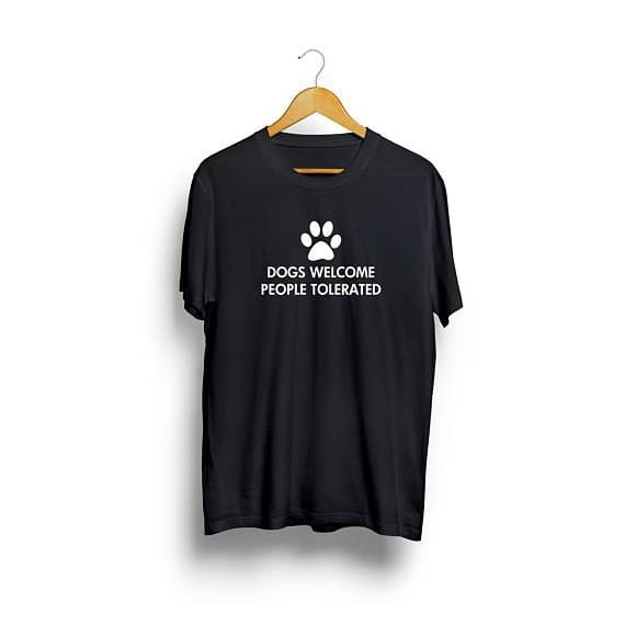 Dog Lover Gift Dog Walking Dog Shirt Dogs Welcome People Tolerated  Funny T shirts Gift for Her Gift Unisex tumblr - thediggitydogstore.com