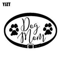 Dog Mom Collar With Paw Prints Vinyl Decal Sticker - thediggitydogstore.com