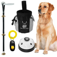Dog Training Clicker + Treat Pouch Bag and Bell Toy - thediggitydogstore.com