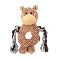 Elephant, Monkey & Hippo Chew Toys, With Dangling Rope Chewy, So Much Fun! - thediggitydogstore.com