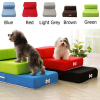 Fabric Covered Small Dog Steps 2-steps Foldable Great For Old Dogs - thediggitydogstore.com