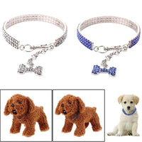 Fancy Rhinestone Dog Collar. Small Medium Large - thediggitydogstore.com
