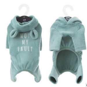 Fleece Dog Onsie to keep Your Pup Warm - thediggitydogstore.com